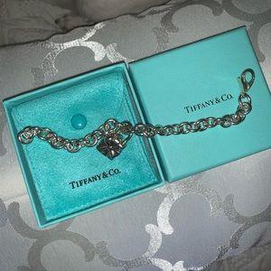 Tiffany & Co Charm Bracelet w/Gift Box Charm